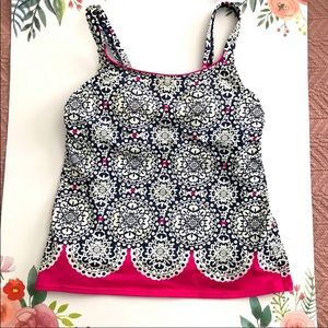 Size 2 Tankini with adjustable straps